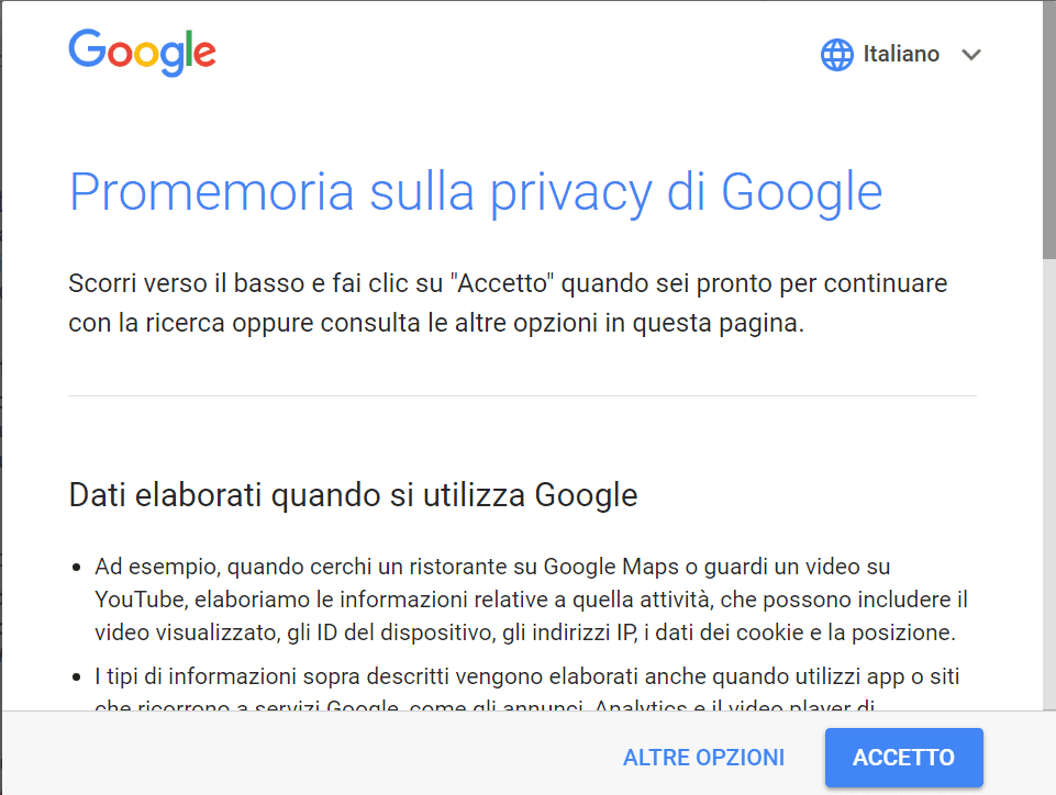 Google e la (finta) privacy?