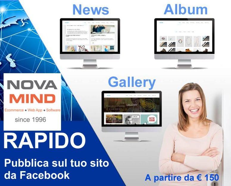 Crea un sito che si aggiorna automaticamente da Facebook